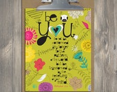 Christian Gift, Scripture art, Wise Reminders - Be You owl, Christian art print
