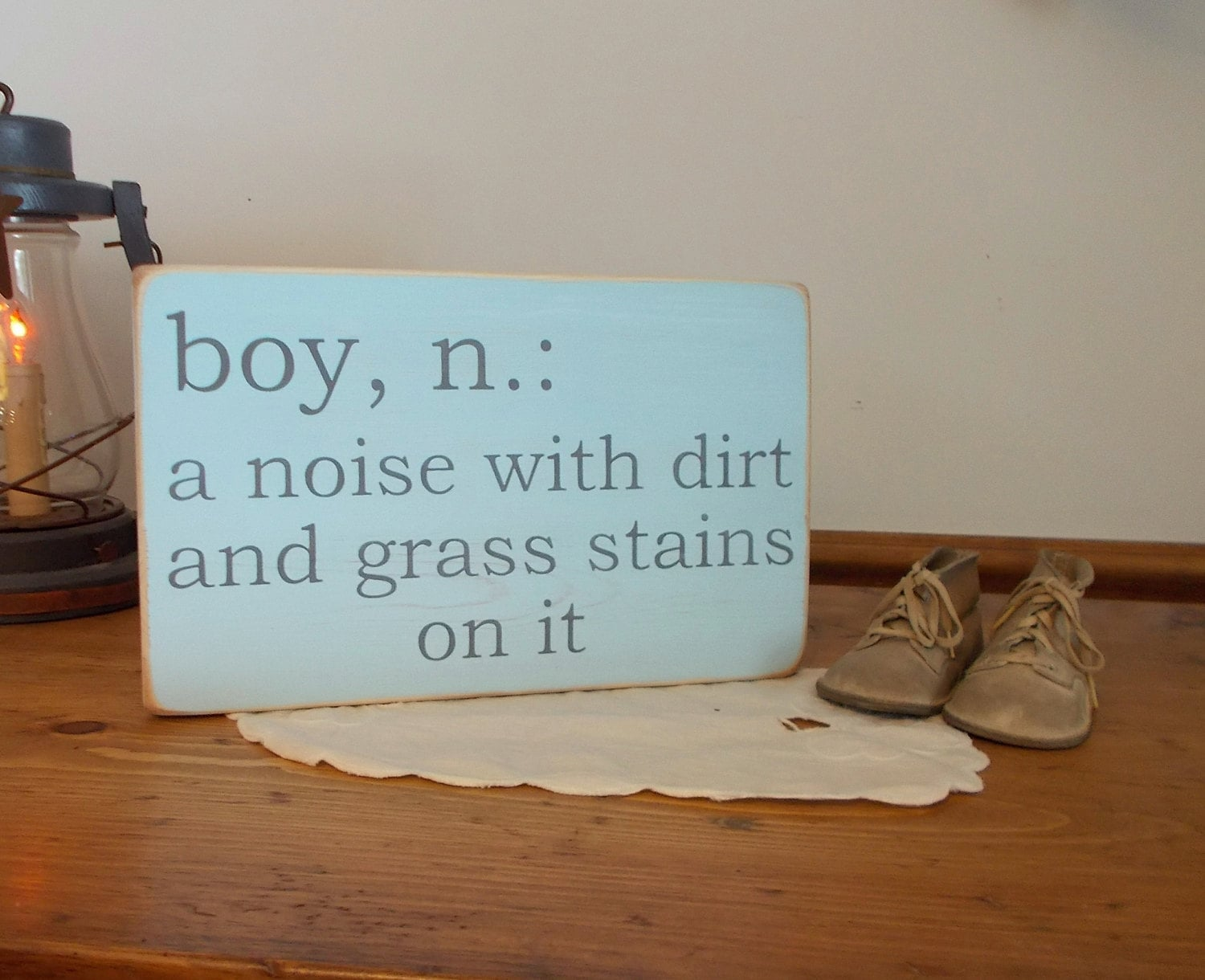 boy definition distressed wood sign baby shower baby reveal