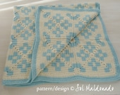 Baby Blanket Tribe crochet pattern - crochet Tapestry granny square - photo tutorial geometrictribal blanket - Instant DOWNLOAD