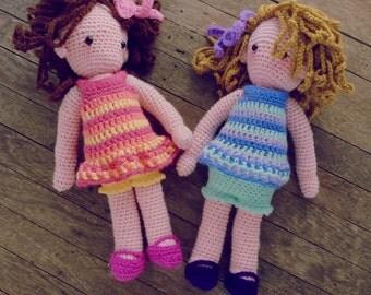Crochet Doll Pattern - amigurumi Girls PDF - Instant Download