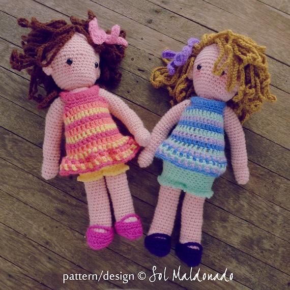 Amigurumi Girl Tutorial : Crochet Doll Pattern amigurumi Girls PDF Instant by bySol