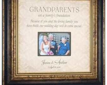 Wedding Gift for Grandparents, Grandparents Wedding Thank You Gift, Grandmother Grandfather Gift, Personalized Wedding Frame Gift, 16x16