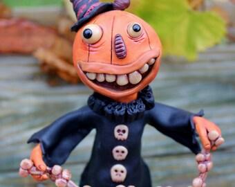 Pumpkin King Polymer Clay sculpture