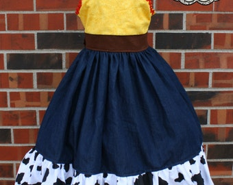 Jessie from Toy Story inspired boutique dress