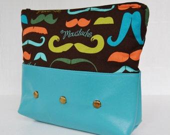 Mustache Mania in Color Cosmetics or Shaving Bag