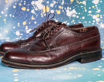 Easy Flex Burgundy Wingtip Men's Size 8 .5 EEE EXTRA WIDE