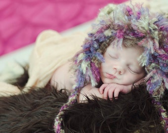Baby Girl Lion Cub Hat-Crochet Baby Lion Hat-Perfect Newborn Photo Prop or Halloween costume