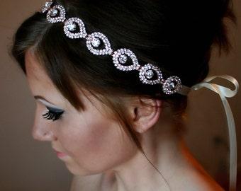 Rose Gold Headband, Wedding headpiece, headband, Rose Gold, ELSIE, Rhinestone Headband, Wedding Headband, Bridal Headband, Bridal Headpiece