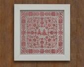 Swedish Folk Cushion - Cross Stitch Pattern - Instant Download PDF Cross Stitch Embroidery Pattern