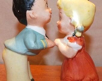 Vintage Kissing Couple Figurines