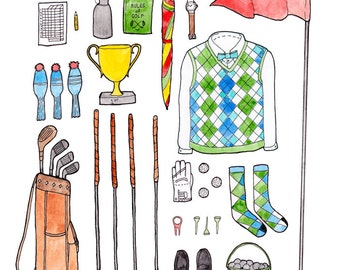 8.5 x 11 Golfing gear