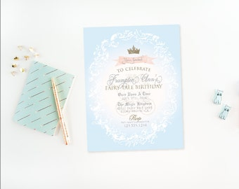 Cinderella Princess Party Collection - PRINTABLE INVITATION DESIGN by Itsy Belle