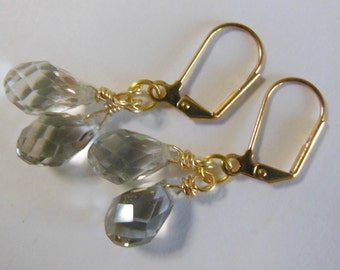 Crystal Teardrops  earrings  E469