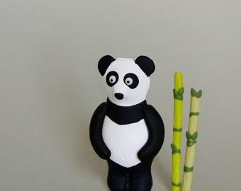 Giant panda brooch - Fun animal jewelry - Panda bear totem - Handmade gift nature lovers - Endangered species