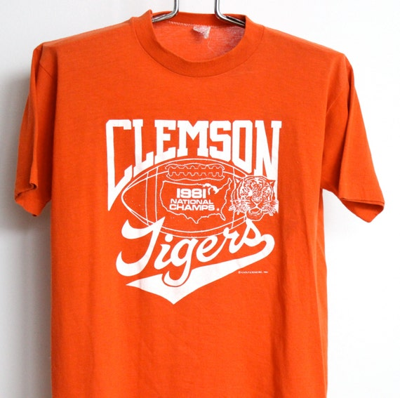 vintage clemson university t shirt mens medium unisex womens