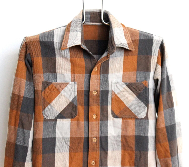 Big mac buffalo plaid flannel shirt mens medium unisex womens for Grey plaid shirt womens