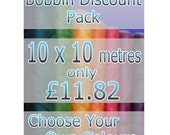 Discount Pack - Any 10 Bobbins / Spools (10m) of Linhasita Waxed Polyester Thread