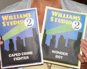 The WS2 Dynamic Duo Pattern Set.  DIY patterns for the Caped Crime Fighter and Boy Wonder cosplay costumes