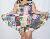 Classic Book Covers Skater Dress Full pattern  - Made to Order