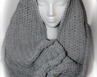 Crochet Over-Sized Infinity Scarf/Hooded Cowl