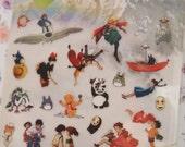 Japan Comic Studio Ghibli Sticker (1 sheet)