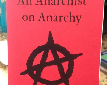 An Anarchist on Anarchy by Élisée Reclus Pamphlet Zine 19th Century Anarchism