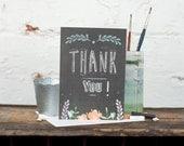 Thank You Card, Appreciation Card, Chalkboard Card - Free Postage