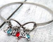 Personalized Birthstone Jewelry - Infinity Bracelet - Personalized Bracelet - Personalized Birthstone Bracelet Personalized Initial Jewelry