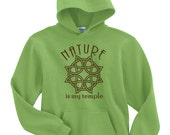 Nature is My Temple Hoodie - Small to 5X - Wicca Witch Greenman Cernunnos Pan God