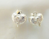 Prayer box or lockets, silver plated lot of 2  Jewelry Making Supplies