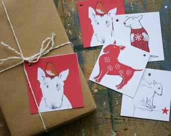 Bull Terrier Gift Tags Pack of 16