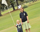 Monogrammed Navy Golf Ball Polo Shirt