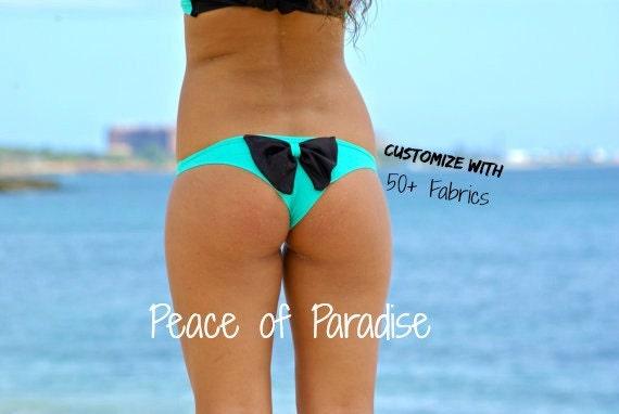 TANTALUS Cheeky Bow Brazilian Bikini Bottom - Design your own custom made bikini bottoms by Peace of Paradise Creations