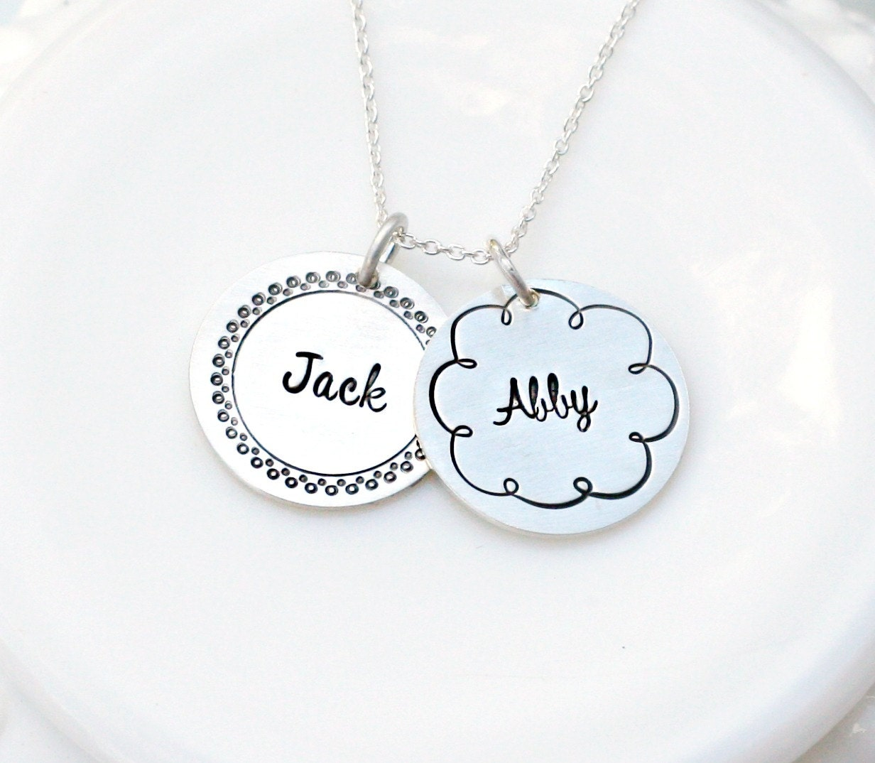 mothers day gift personalized jewelry two name necklace