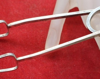 Vintage Cartier Sterling Silver Ice Serving Tongs