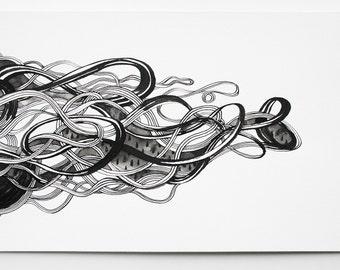 South Wind, Original Ink Drawing, 2015.