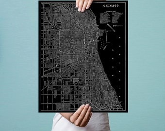 Chicago, Historic Map, Fine Art Print