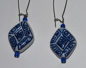 Blue Tribal Dangle Earrings