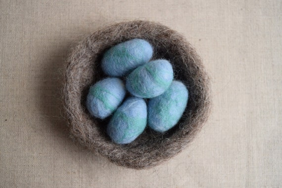 Needle Felt Bird Nest Kit - DIY Craft Kit