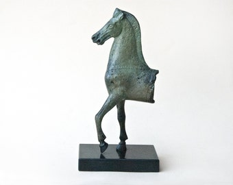 Greek Bronze Metal Horse, Art Sculpture, Parthenon Temple Athens Acropolis, Museum Quality Ancient Greek Art, Equine Art Decor, Art Gift