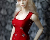 Iplehouse EID Red And Silver Star Singlet Top For SD BJD