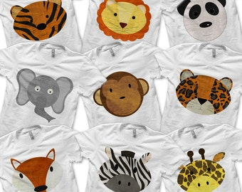 Zoo Bundle Pack - Toddler Zoo Birthday Party Favors / Kids School Zoo Trip / Boys Zebra Shirt / Girls Panda Tshirt / Baby Leopard Outfit -D