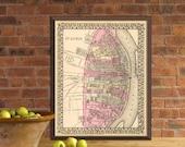 St Louis map - Old map of Saint Louis - Fine reproduction