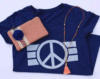 Peace Sign T-shirt, handprinted