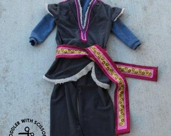 Awkward Hero - Inspired by Frozen's Kristoff - Vest, Shirt, Belt & Pants - Sizes 1t, 2t, 3t, 4, 5,  6 - Halloween Costume