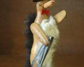 Mid Century Wooden Penguin Designed By J.V. Orel - Bojesen Era Danish Modern Teak Animal Figurine