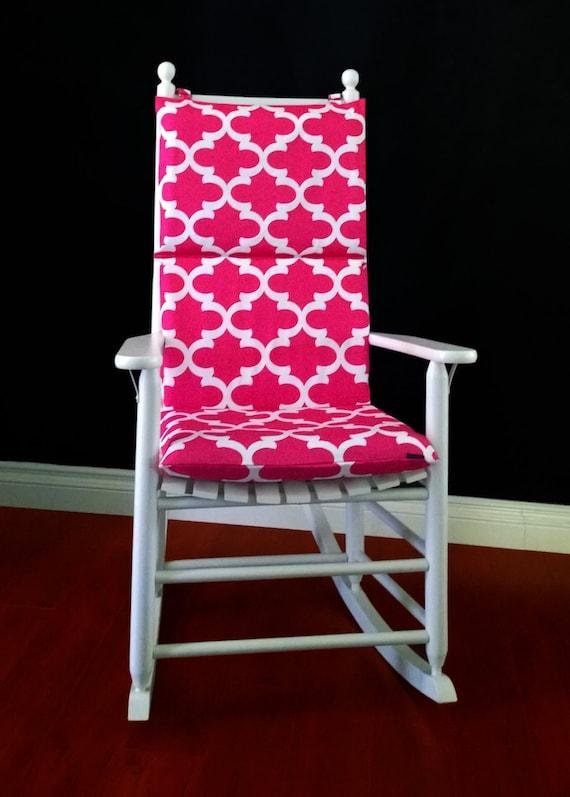 Rocking Chair Cushion Cover Candy Pink Fynn by RockinCushions