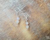 Moonstone Silver Earrings. Moonstone gemstone earrings. Silver earrings hooks. Bohemian Quartz Gemstone earrings. Dainty earrings