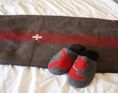 Valentine's Gift / Swiss Army Wool Blanket  // Outdoor Wool Blanket for Camping, Cabins and Boats