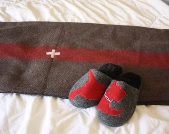 Swiss Army Wool Blanket  // Outdoor Wool Blanket for Camping, Cabins and Boats
